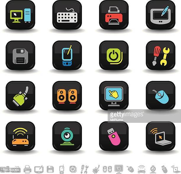 computer icons | bbton series - computer speaker stock illustrations, clip art, cartoons, & icons