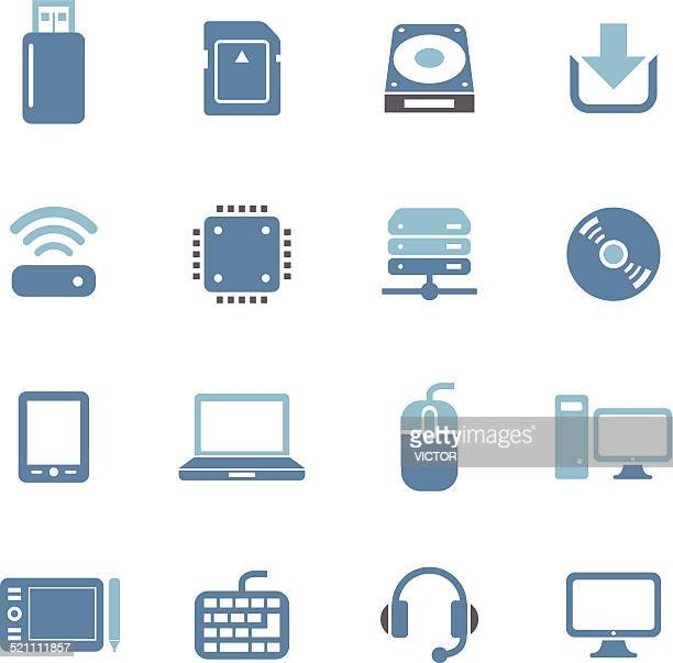 computer icons - conc series - hard drive stock illustrations, clip art, cartoons, & icons
