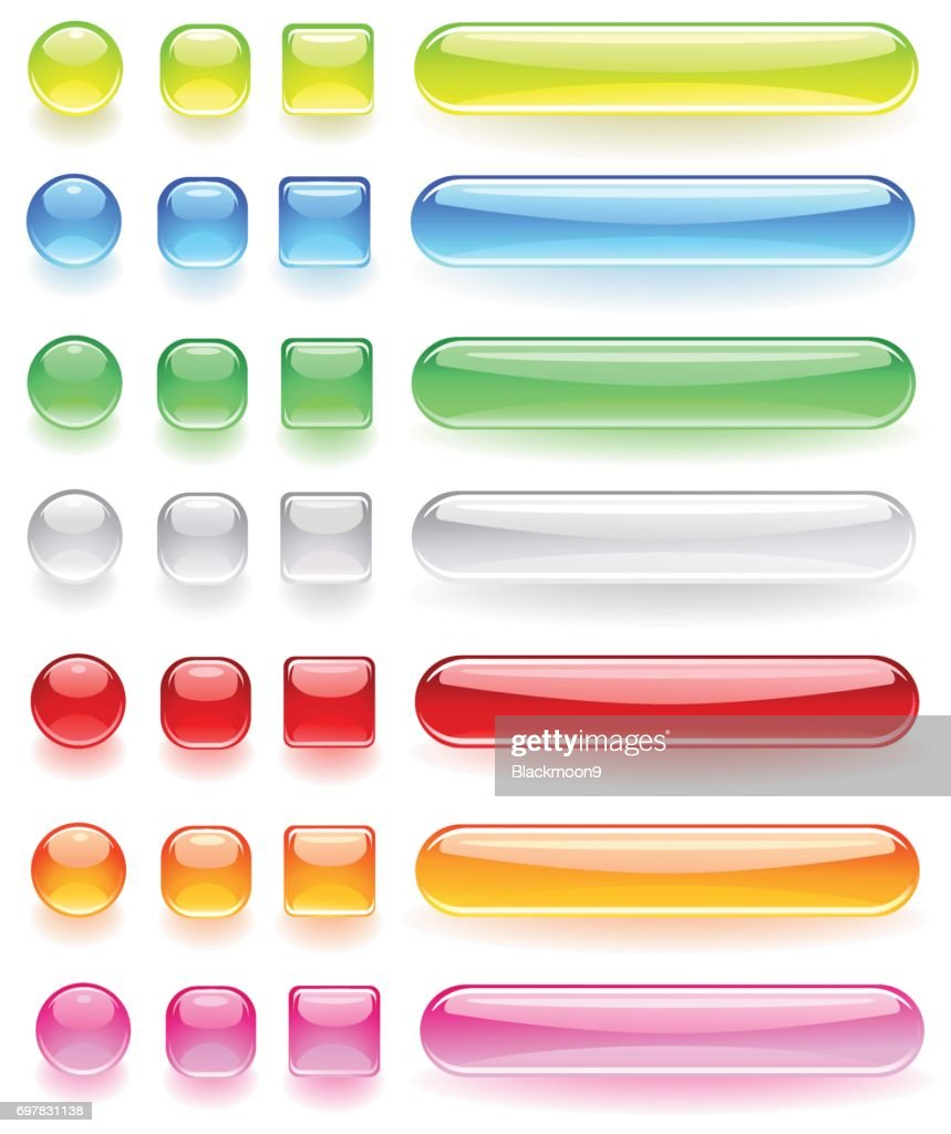 computer icons from the bright colored glass