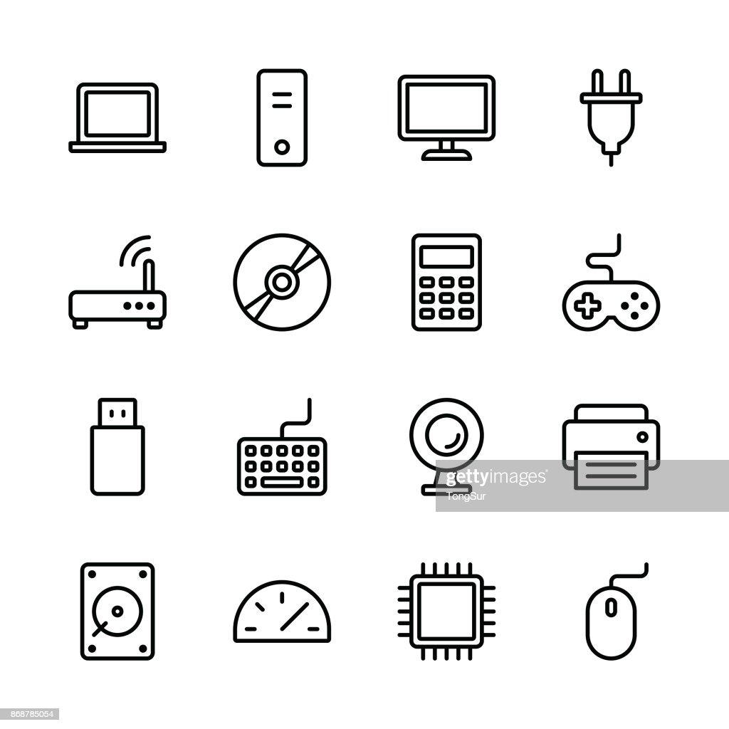 Computer Icons - Line : stock illustration