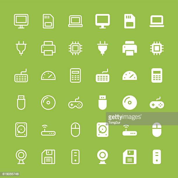 Computer icons - Medium - White