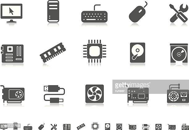 computer icons | pictoria series - hard drive stock illustrations, clip art, cartoons, & icons