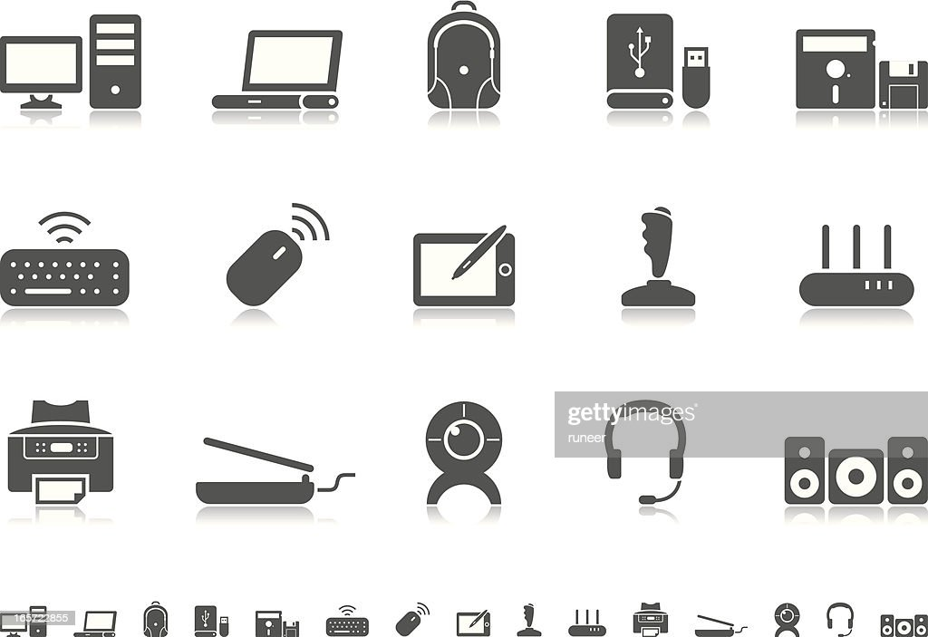 Computer icons | Pictoria series : stock illustration