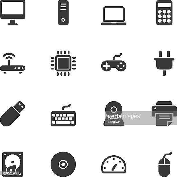computer icons - regular - usb cable stock illustrations, clip art, cartoons, & icons