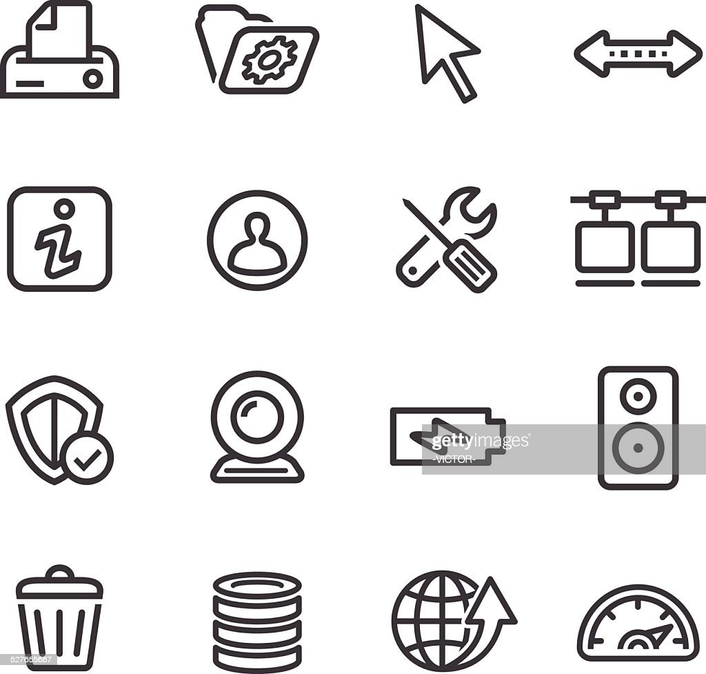 Computer Icons Set - Line Series