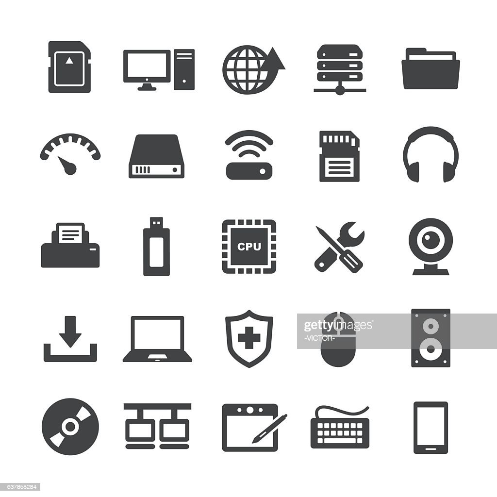 Computer Icons Set - Smart Series