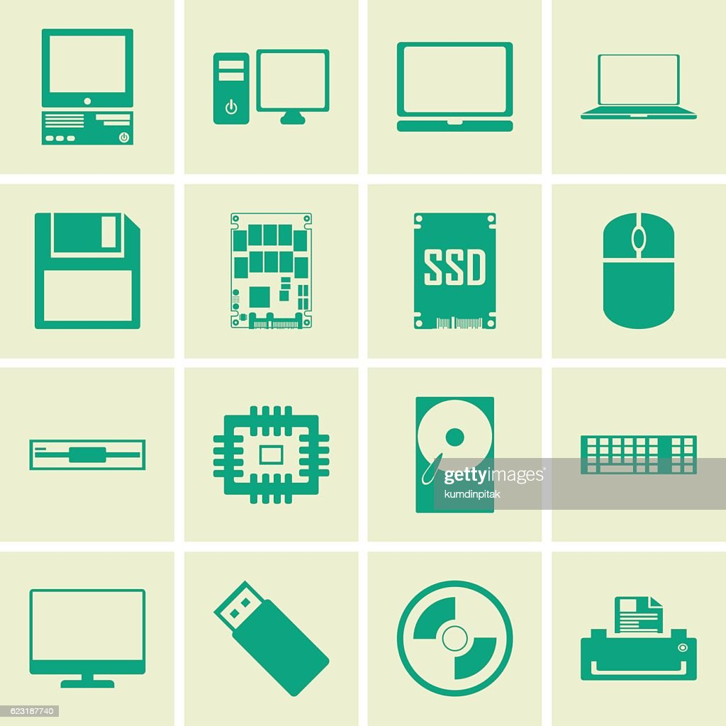computer icons set.