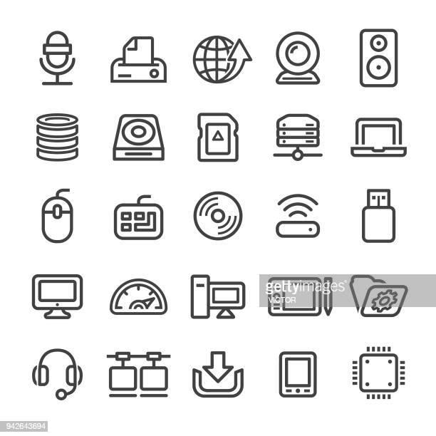 computer icons - smart line series - usb stick stock illustrations, clip art, cartoons, & icons