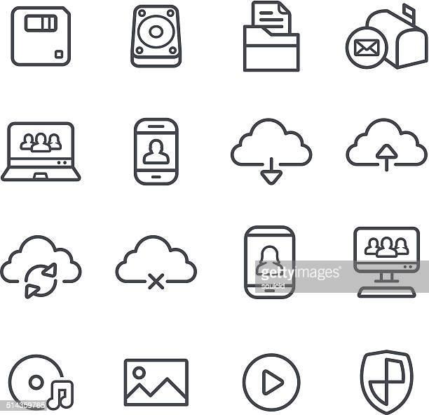 computer icons - hard drive stock illustrations, clip art, cartoons, & icons