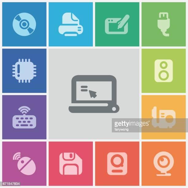 ilustraciones, imágenes clip art, dibujos animados e iconos de stock de iconos de computadora - ram animal