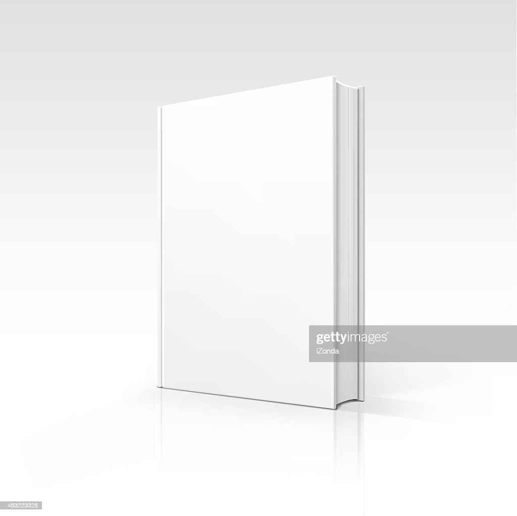 A computer image of a white blank book