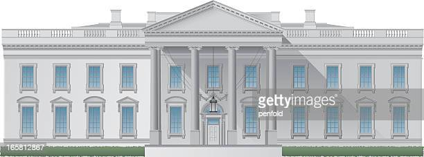 computer image of the white house - white house washington dc stock illustrations, clip art, cartoons, & icons