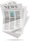 Computer image of unorganized newspaper
