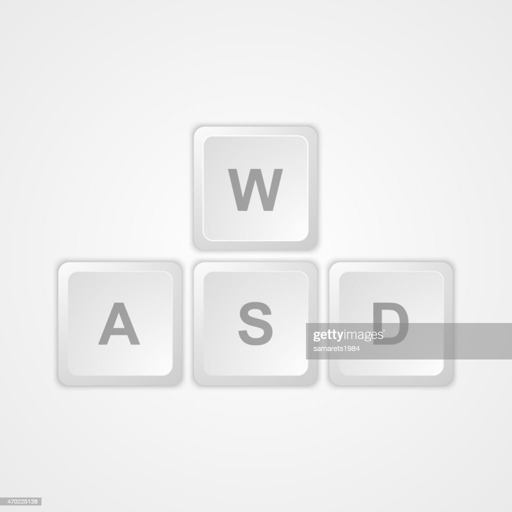 Computer keyboard WASD gaming buttons.