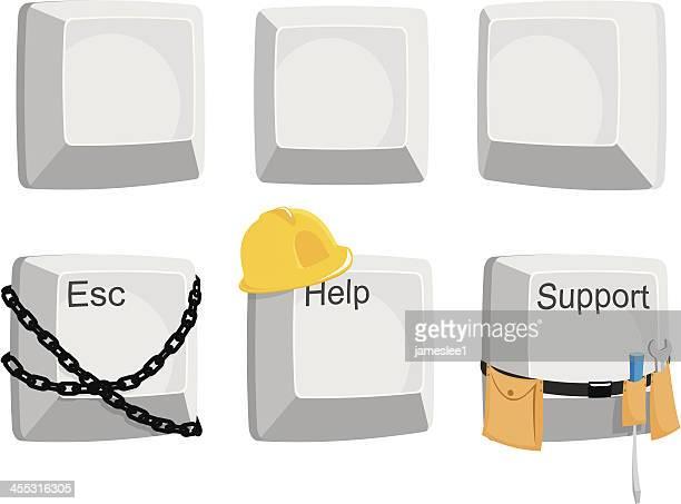 computer keys - tool belt stock illustrations, clip art, cartoons, & icons