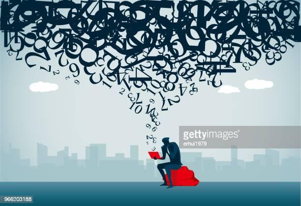 computer language - chaos stock illustrations