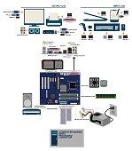 computer mainboard parts port conector graphic info