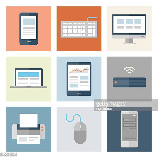 Computer & Mobile Device Icons — Flat Series
