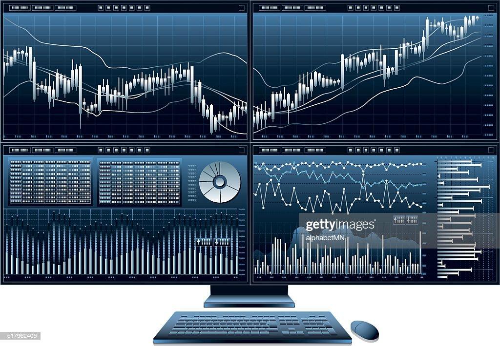 computer monitor graph