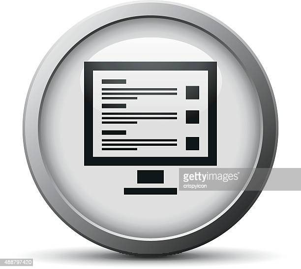 Computer Monitor icon on a silver button.