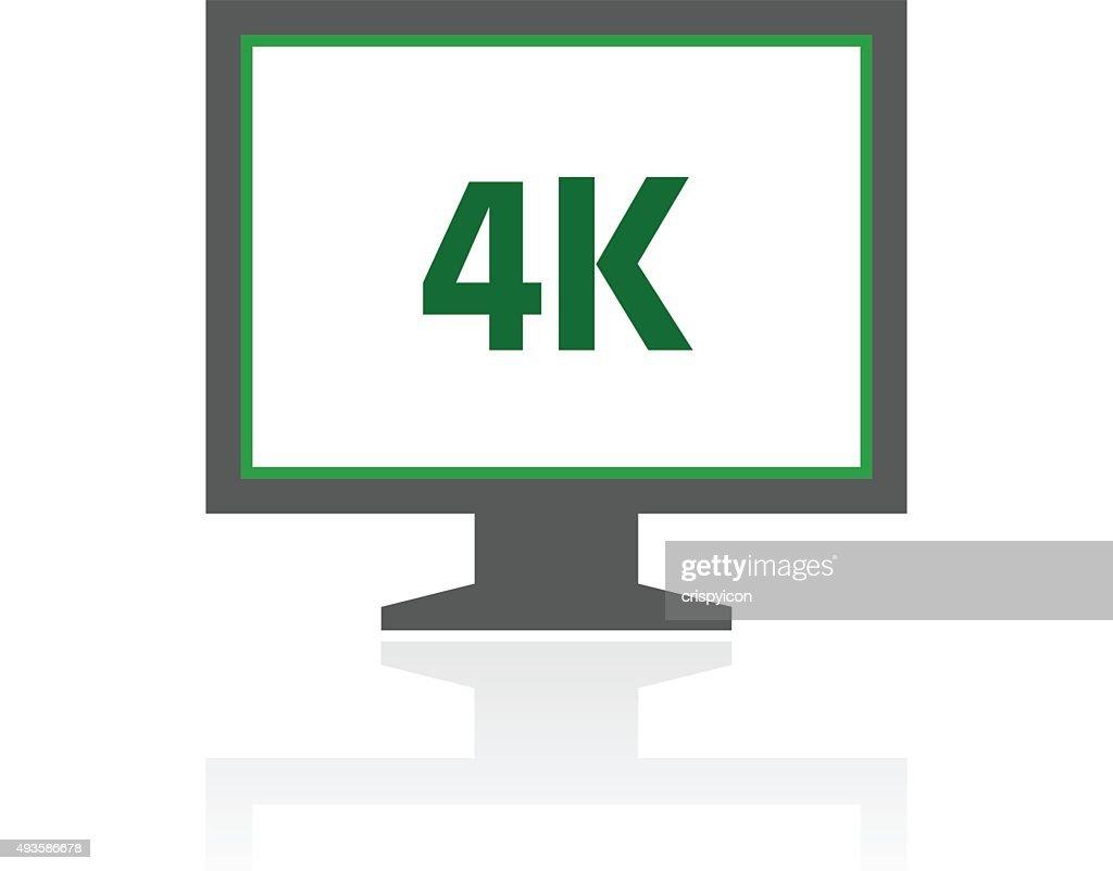 Computer Monitor icon on a white background. - FreshSeries : stock illustration