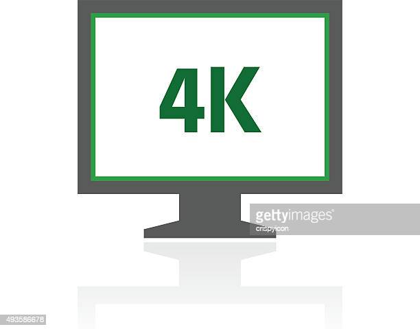 Computer Monitor icon on a white background. - FreshSeries