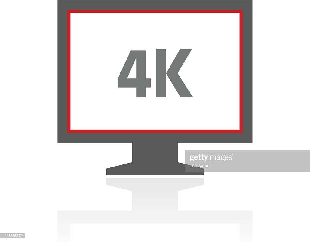 Computer Monitor icon on a white background. - ProSeries : stock illustration