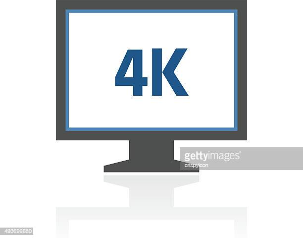 Computer Monitor icon on a white background. - RoyalSeries
