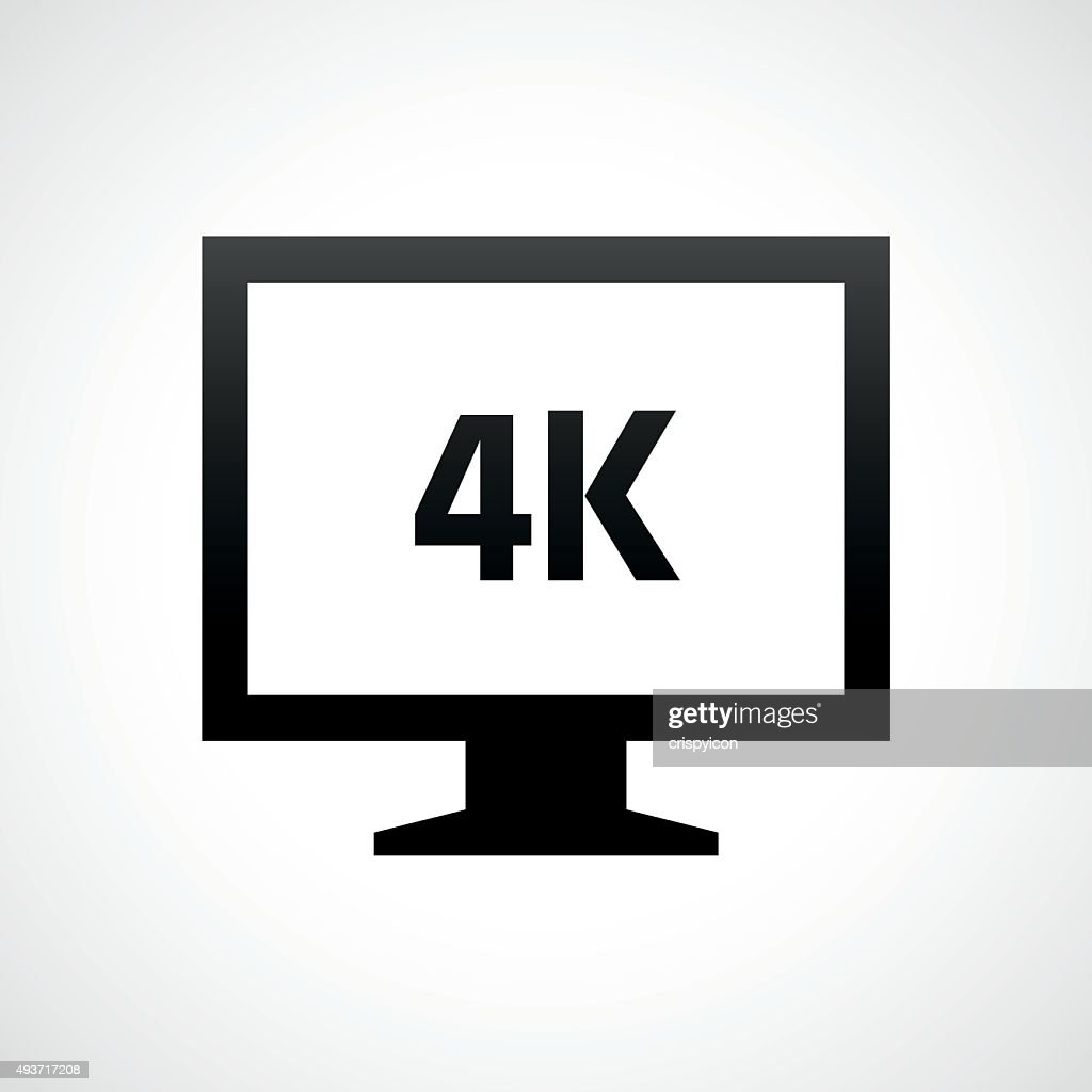 Computer Monitor icon on a white background. - ShadeSeries : stock illustration