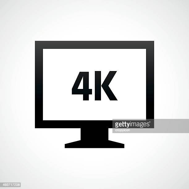 Computer Monitor icon on a white background. - ShadeSeries