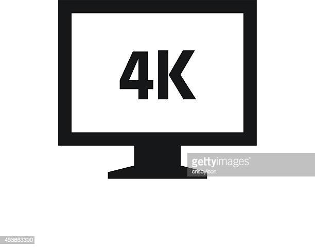 Computer Monitor icon on a white background. - SingleSeries