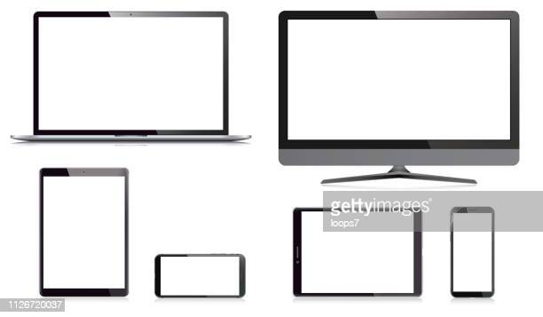Computer Monitor, Laptop, Smart Phone and Digital Tablet