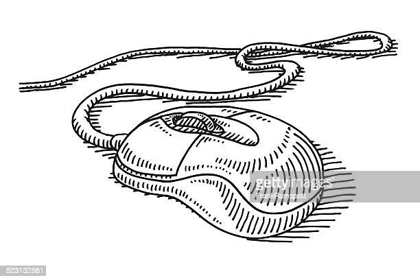 Computer Mouse Cable Drawing