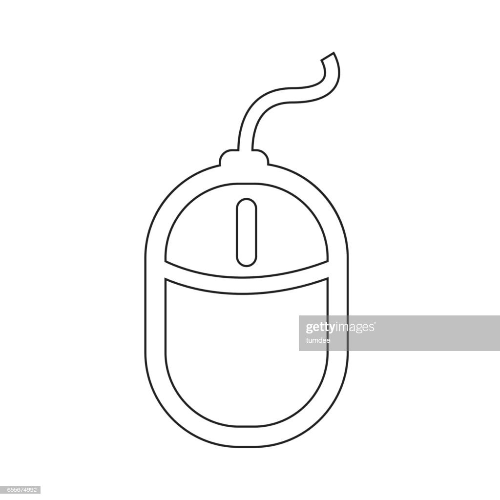 Computer Mouse Icon Illustration Design Vector Art Getty Images Diagram