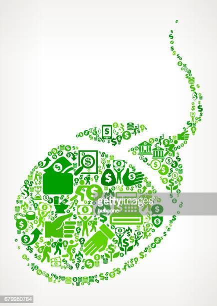 Computer Mouse  Money and Finance Green Vector Icon Background