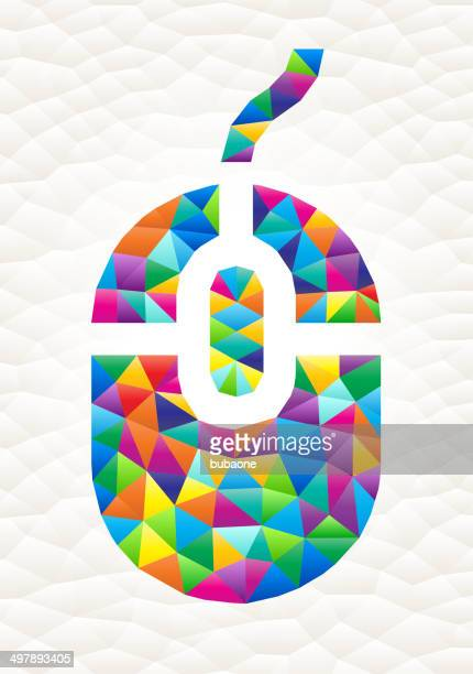 computer mouse on triangular pattern mosaic royalty free vector art - free mosaic patterns stock illustrations