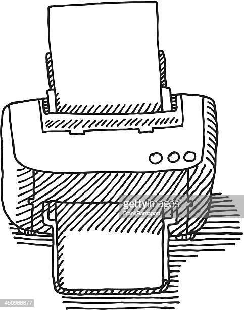 Computer Printer Drawing