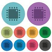Computer processor color darker flat icons