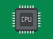 Computer Processor Icon Vector