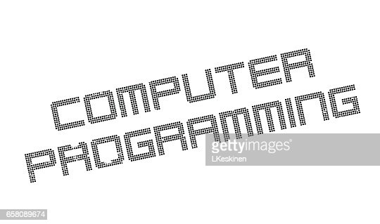 Computer Programming Rubber Stamp Vector Art
