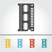 Computer RAM Memory Single Icon Vector Illustration