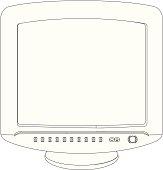 computer screen contour