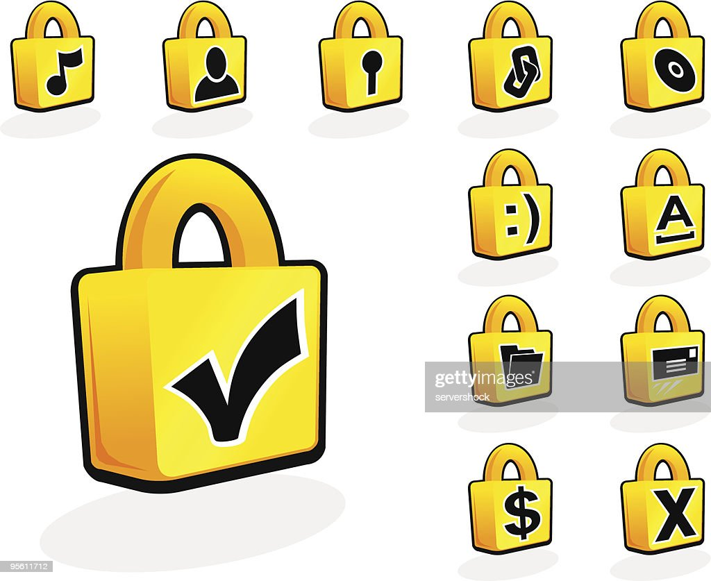 Computer Security Lock Icons