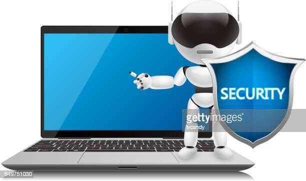 computer security - computer virus stock illustrations