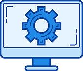 Computer settings line icon