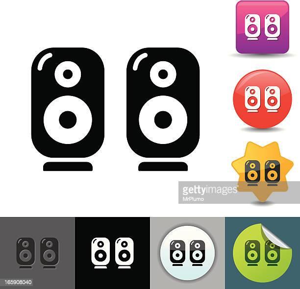 computer speakers icon | solicosi series - computer speaker stock illustrations, clip art, cartoons, & icons