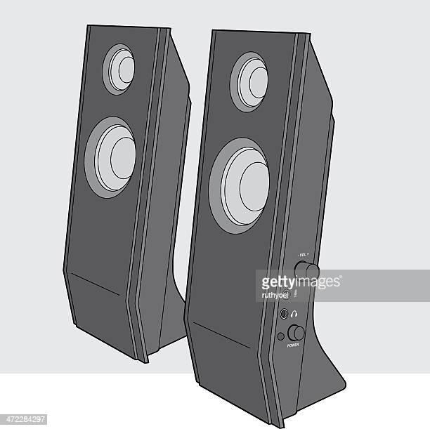computer speakers - computer speaker stock illustrations, clip art, cartoons, & icons