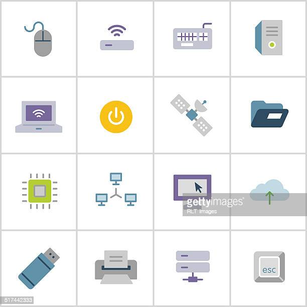 computer technology icons — poly series - usb cable stock illustrations, clip art, cartoons, & icons