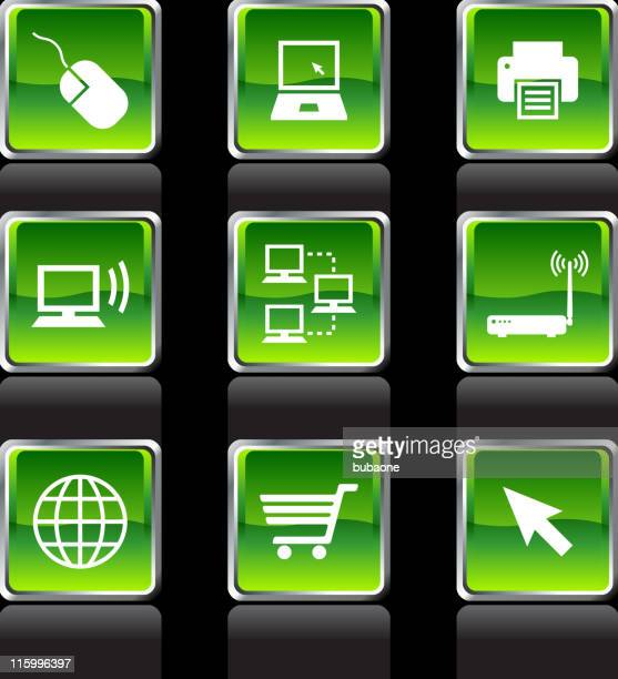 Computer Technology royalty free vector icon set