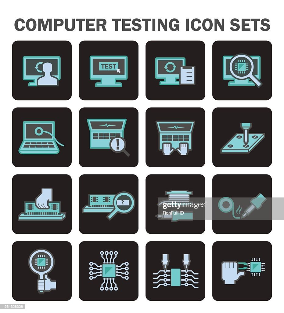 Computer test icon